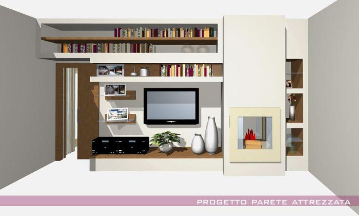 Oltre 25 fantastiche idee su Parete con camino su Pinterest  Scaffali soggiorno, Rimodellare un ...
