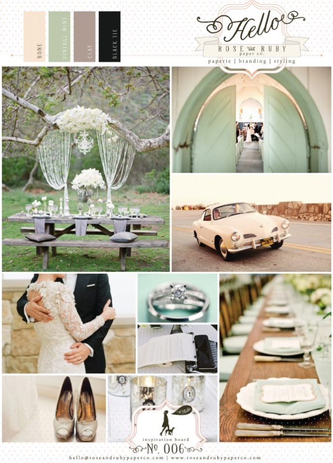 Close To Our Wedding Colors! Retro Mint Wedding Inspiration Board By  Pendleton Murphy