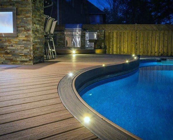 Top 60 Best Deck Lighting Ideas Outdoor Illumination In 2020 Cool Deck Outdoor Deck Lighting Deck Lighting