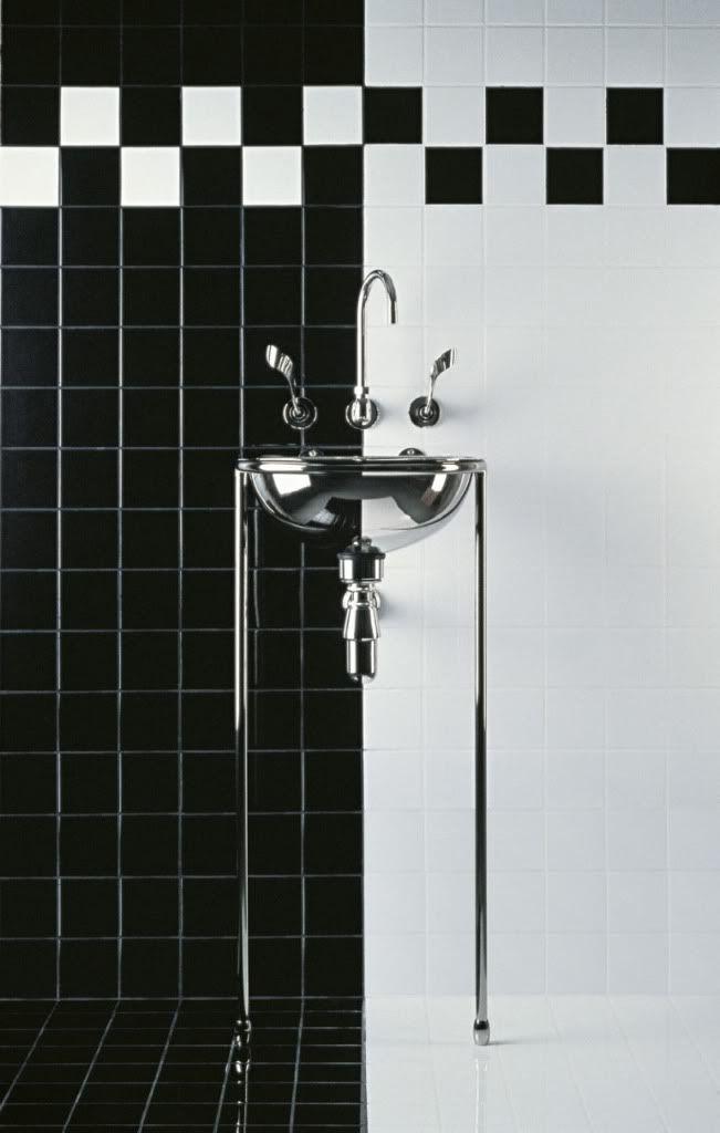 17 meilleures images propos de carrelage damier sur for Carrelage damier noir et blanc salle de bain