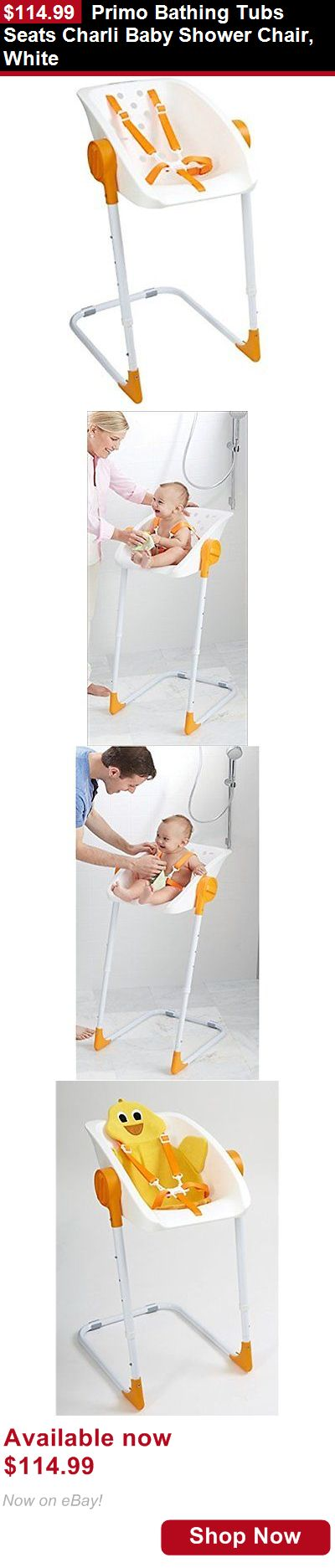 Baby Bath Tub Seats And Rings: Primo Bathing Tubs Seats Charli Baby Shower Chair, White BUY IT NOW ONLY: $114.99