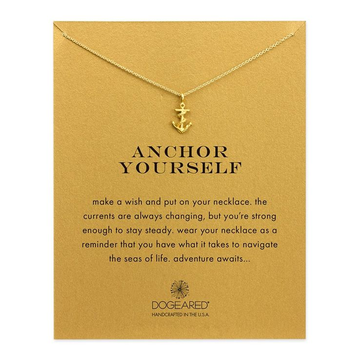 Dogeared Anchor Yourself Rope Anchor Reminder 16' Boxed Necklace *** See this great product. (This is an Amazon Affiliate link and I receive a commission for the sales)