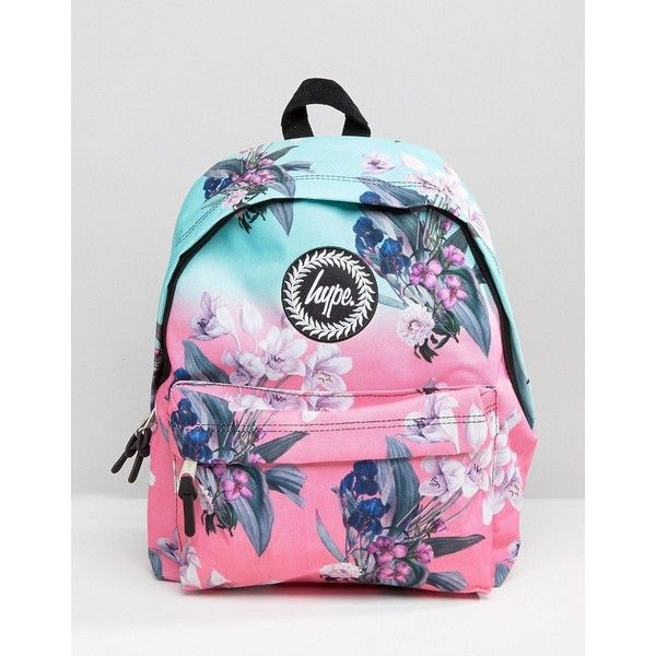 Hype Exclusive Peachy Floral & Leaf Backpack (120 BRL) ❤ liked on Polyvore featuring bags, backpacks, multi, floral bags, hype backpack, floral rucksack, leaf bags and flower print backpack