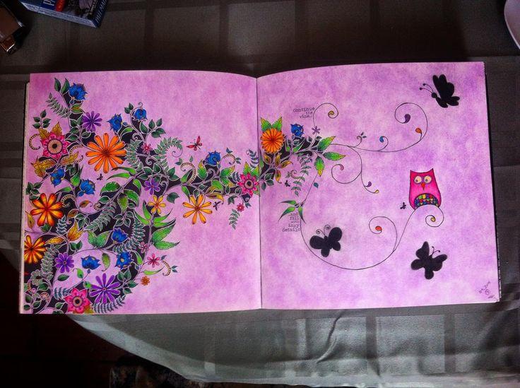 """Finished!  #secretgardencoloringbook #johannabasford #colorful #colouring #relax #jardimsecretoinspire #colouringforadults ✌️"""