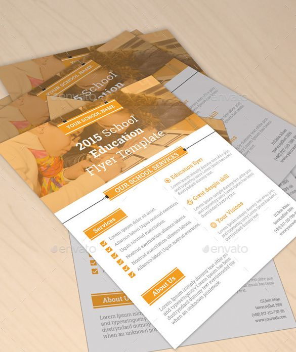 20 Best Professional Educational Psd School Flyer Templates Images