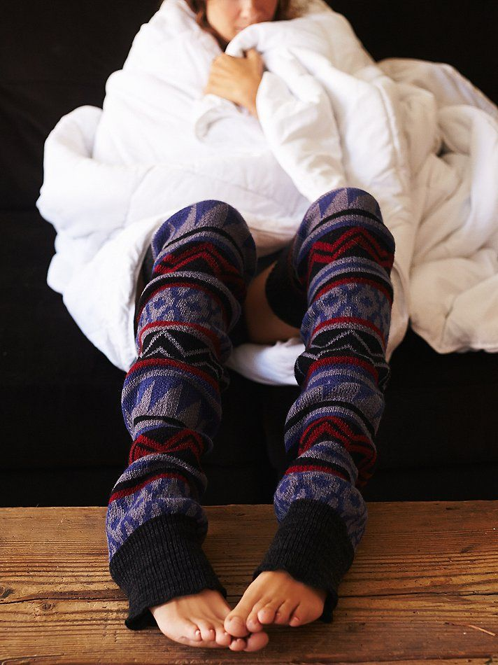 Loveland Thigh Hi Legwarmer | Colorful geo patterned cozy knit thigh high legwarmers. Perfect for layering.   *By Free People