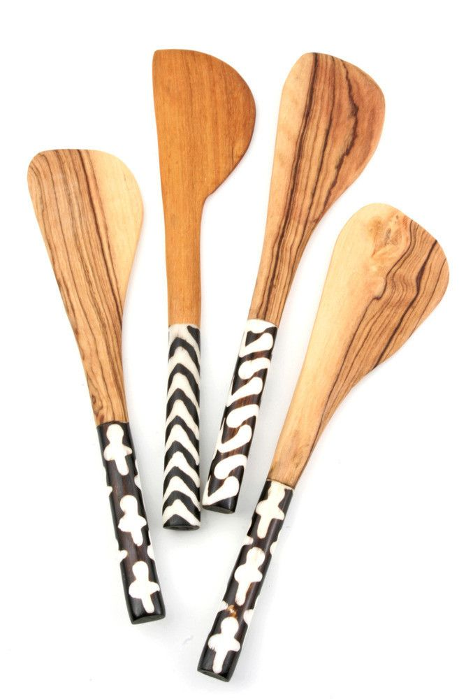 Batik Olivewood Cheese Spreader | LEIF