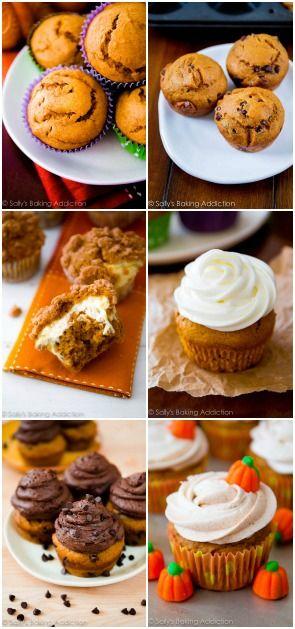 Pumpkin Spice Cupcakes - 6 different ways