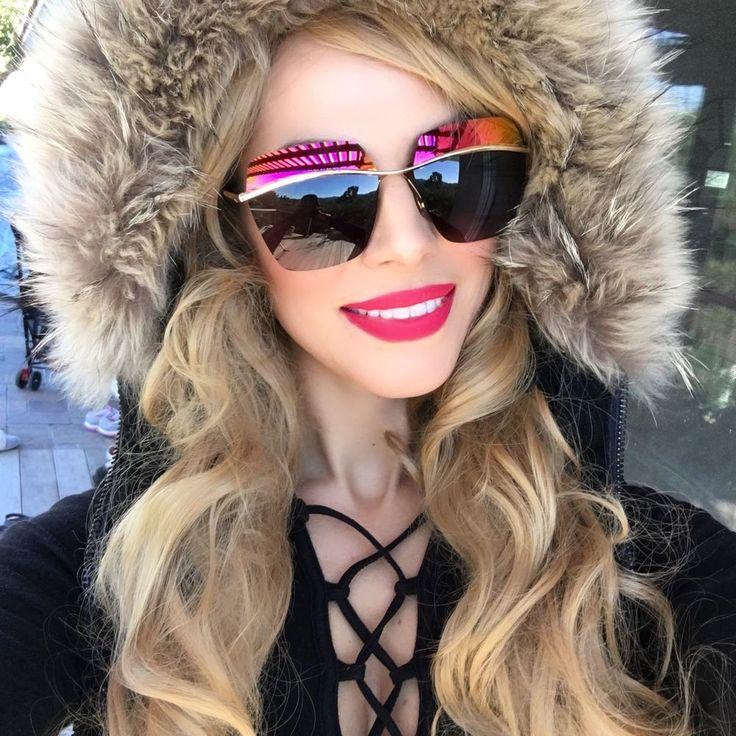 """RIMLESS Futuristic Half Demi Mirror """"metallic"""" Square Aviator Women Sunglasses #FashionDeals #Aviator# Dior replica"""