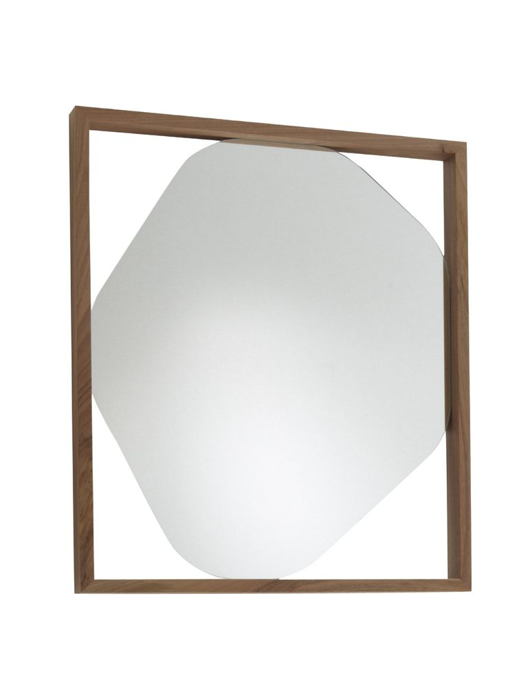 The small Belize Mirror by Kensaku Oshiro 2011 can be mounted horizontally or vertically. It is 60 x 70 and the frame which is finished in either solid american walnut or black stained solid ash is 6cm deep.