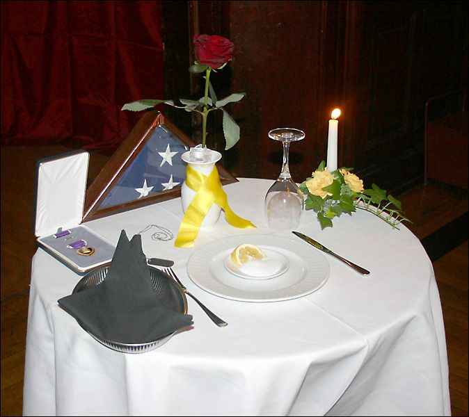 Military Ball Decorations: Fallen Soldiers Table At The St