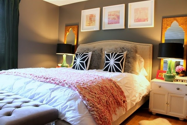 positioning of furniture and bedside accessories