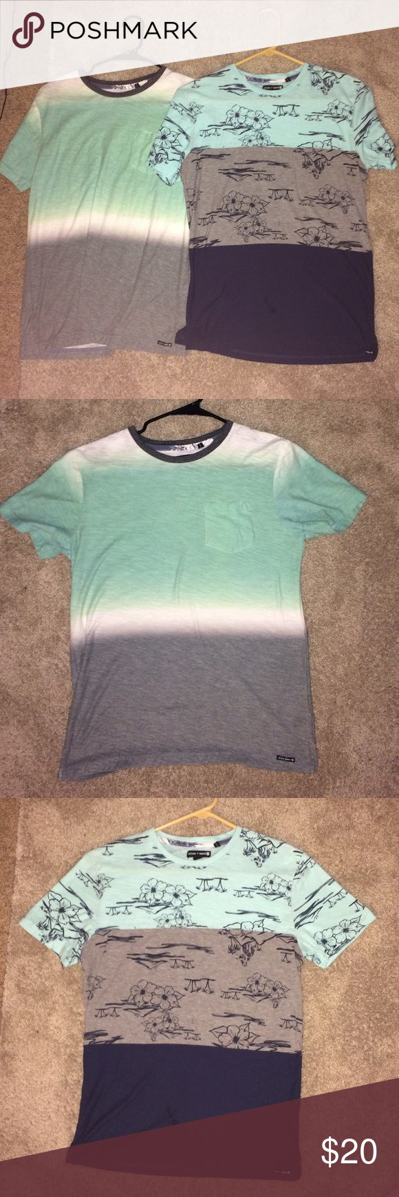 Ocean Current multicolored t-shirts Both only worn a couple of times and in great condition.  You can also buy separately! Ocean Current Shirts Tees - Short Sleeve