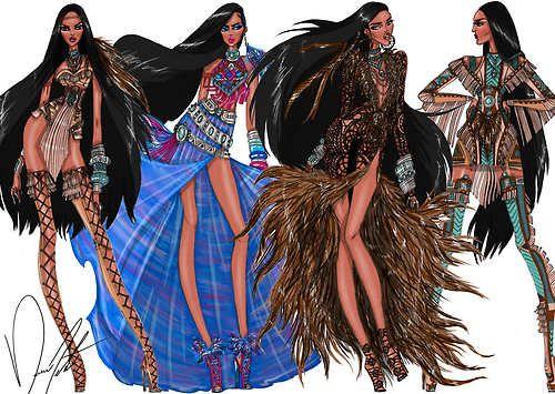 Disney Fashion Frenzy - Pocahontas Set By Daren J