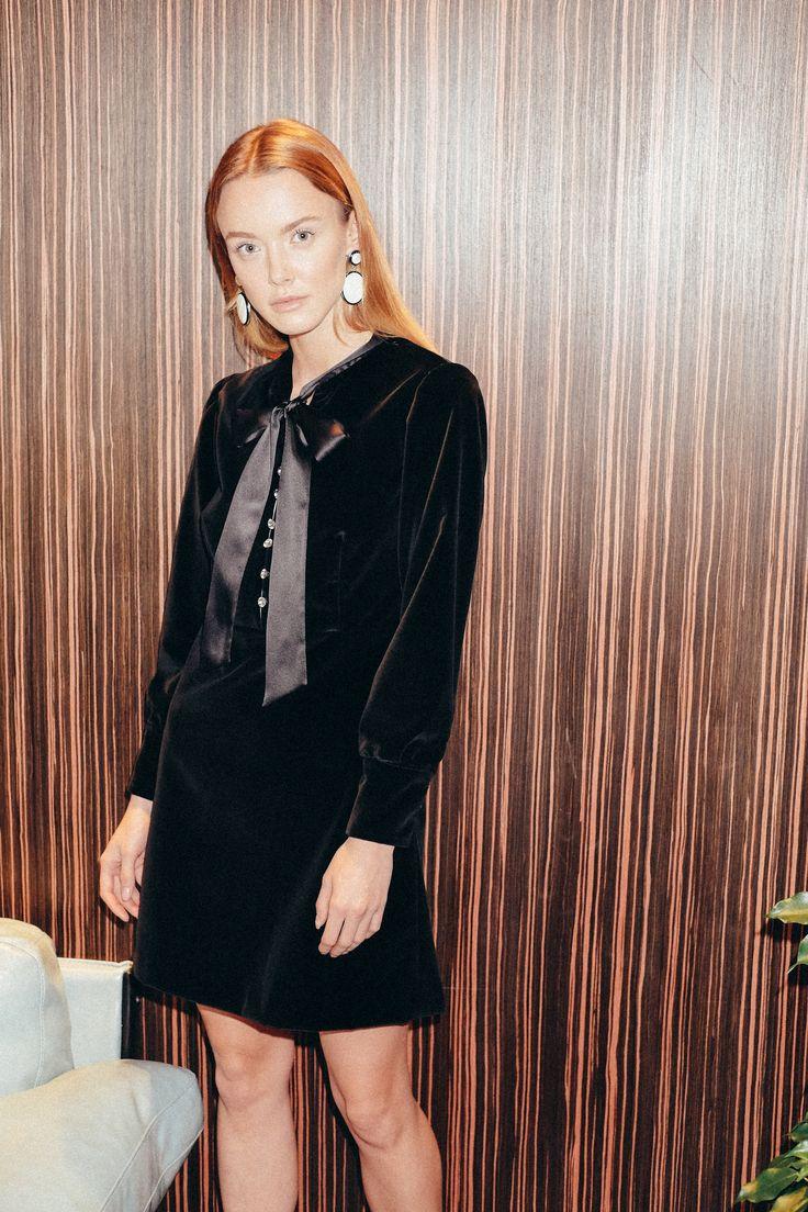 Beresta autumn - winter 2017 , Black dress, velvet dress, look book, photo  shoot , бархатное платье , чёрное платье