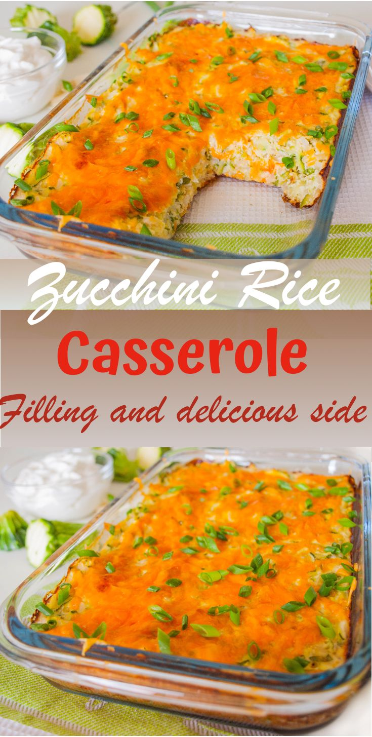 Jun 23, 2020 – Pack your dinner with extra vegetables with this Healthy Zucchini Rice Casserole. This Casserole is not o…