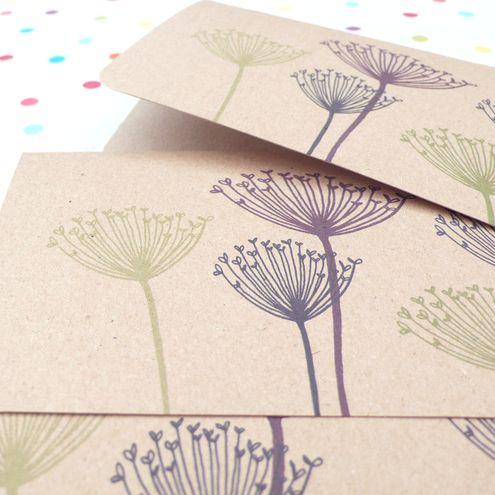 Winter Cow Parsley notecards