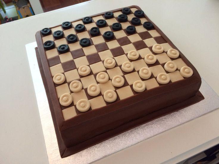 Dambord taart, checkerboard cake www.twinkelotje.nl