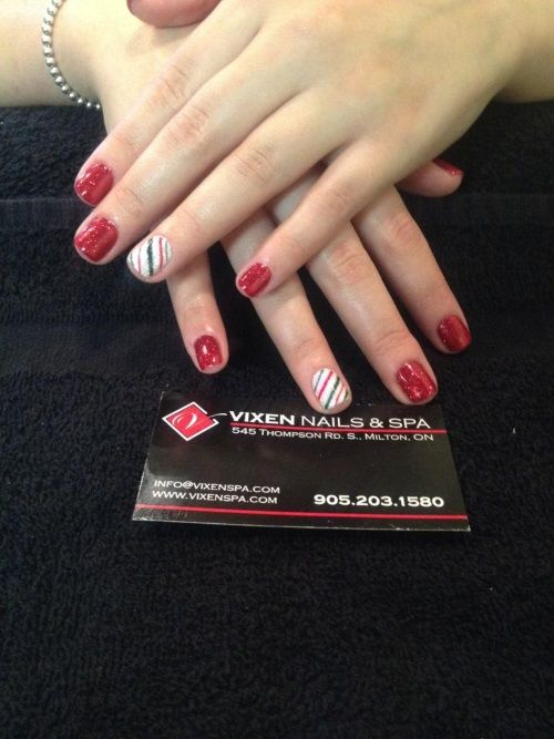 Holiday Manicure Touch www.vixenspa.com