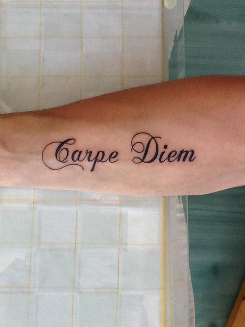 Carpe Diem. Font
