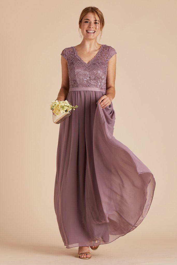 19c4881ec320 Birdy Grey Bridesmaid Dress Under  100 - Esther Dress in Dark Mauve -  Pretty Lace Bodice
