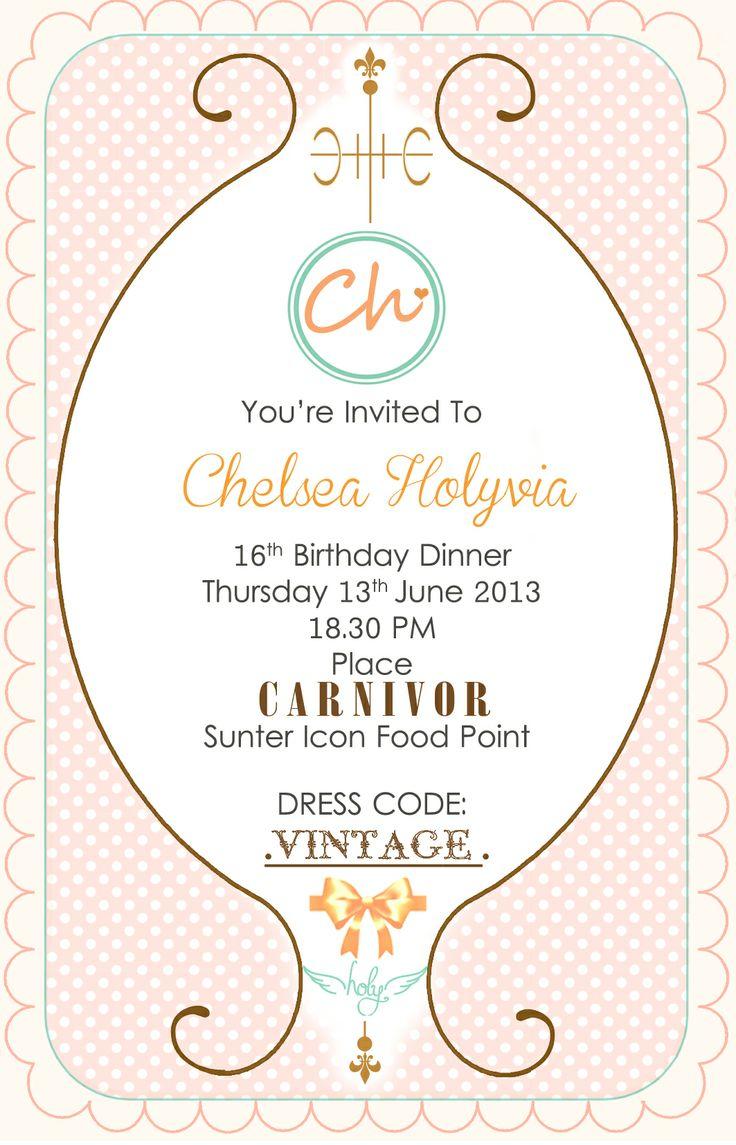 #invitation #Cute Invitation #sweet sixteen birthday