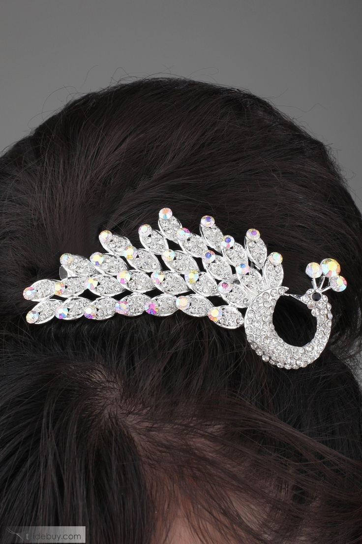 Peacock Hair jewelry - $39.00
