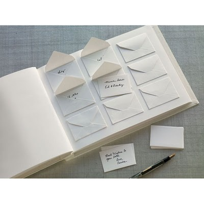 Cute guest book idea - maybe leave a card at each place seating and pens on the table for people to sign.