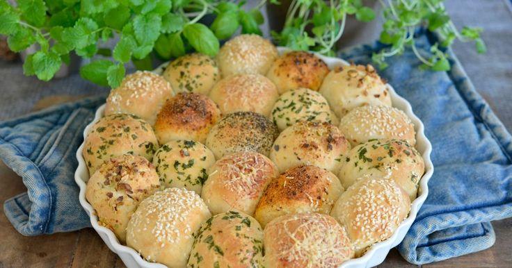 Kjempegodt brød med smak av ost og urter