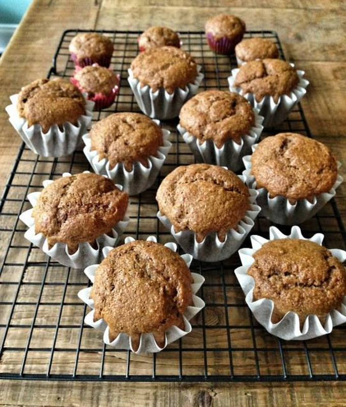 Recipe:  Whole-Grain Pumpkin Muffins (or Mini-Muffins) - 100 Days of Real Food