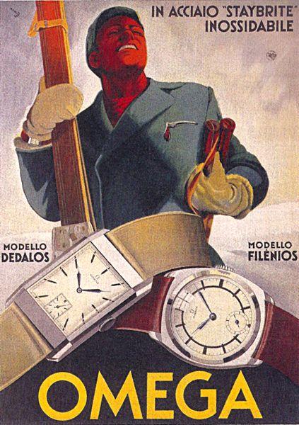 1933 Omega poster ‹ Strickland Vintage Watches