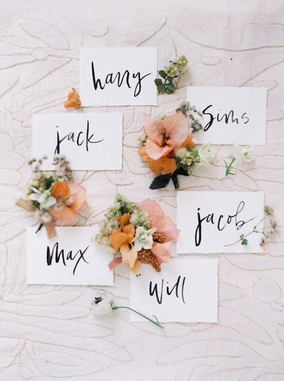 Festive Peach and Gold Wedding Ideas