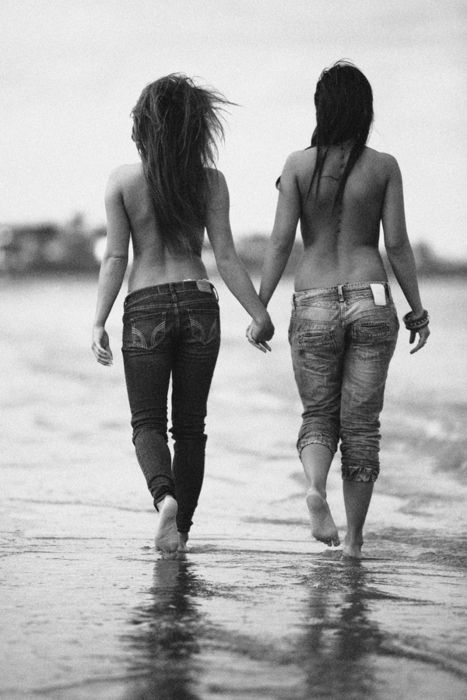 #lesbians: Beaches, Hold Hands, Couple Lesbian, Close Friends, Beautiful Walks, Lesbians, Girlfriends, Girls Friends, Holding Hands
