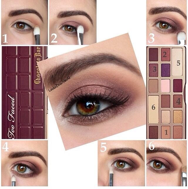 Too Faced Chocolate Bar palette Make up, how to, pictorial, tutorial