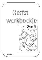 Groep 5: Herfstwerkboekje voor groep 5