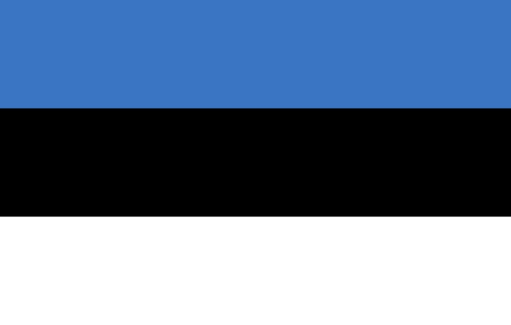 blue white black flag