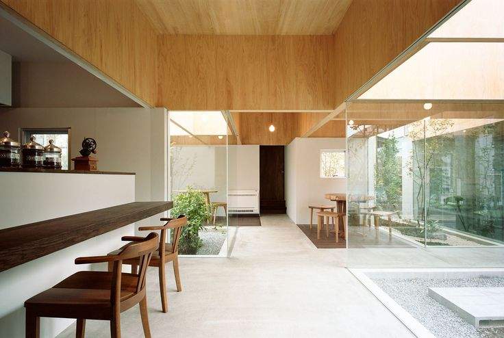 Hiroyuki Shinozaki Architects—Table Hat, 2011. It is an extension of two-Story Residential Street at wooden house in Odawara City. The Extended part was Planed for Cafe and residence.