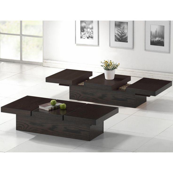 Cambridge Dark Brown Wood Modern Coffee Table Overstock Com Shopping The Best Deals