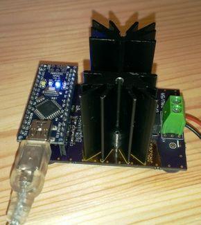 Maker designs an Arduino-based programmable electric load using an Atmel-powered Nano (ATmega328 MCU). #Atmel #Arduino #Makers #MakerMovement #DIY