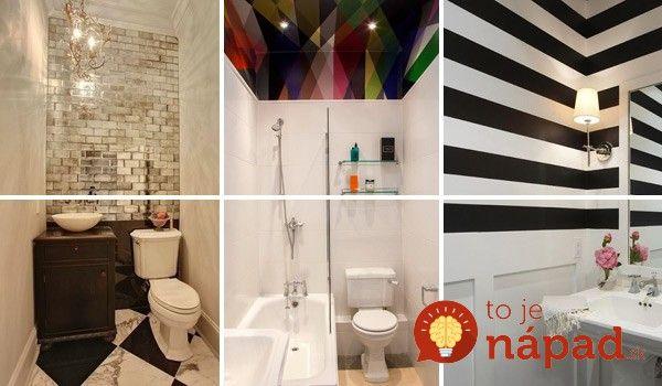 22 skvelých riešení pre malé kúpeľne