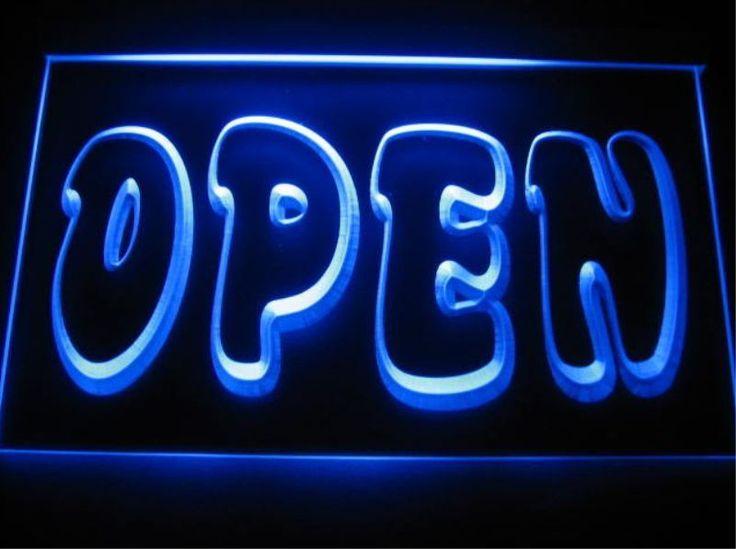 OPEN Shop cafe Bar Business pub club 3D signs LED neon Light Sign man cave