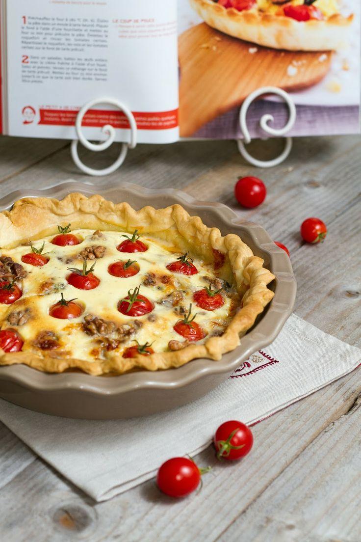 Tarte roquefort & tomates cerises