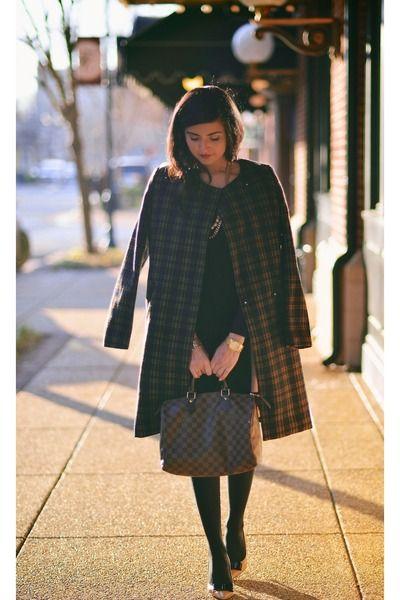 dark-brown-plaid-coat-h-m-coat-dark-brown-louis-vuitton-bag-zara-skirt_400.jpg (400×600)
