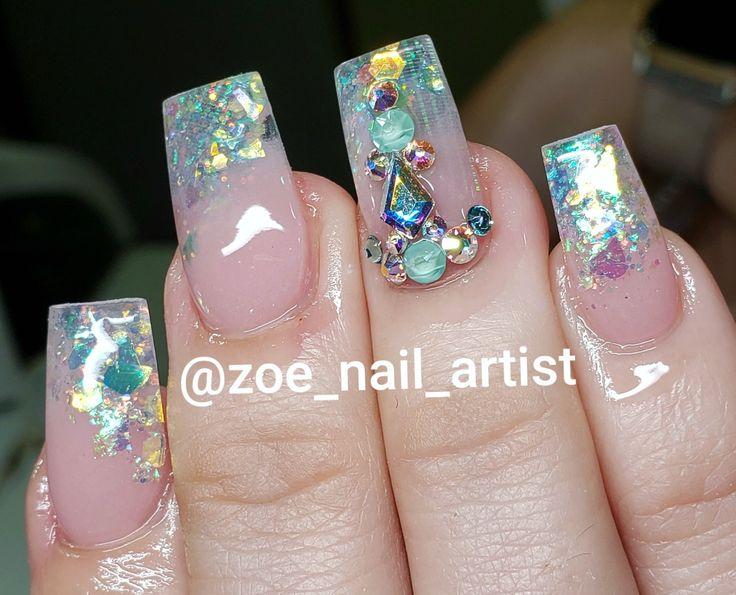 Like a diamond 💎 Nail Art in 2019 Diamond nail designs