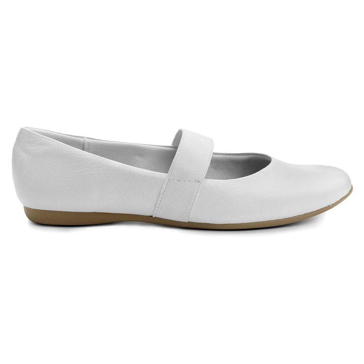 Compre Sapatilha Usaflex Elástico Branco na Zattini a nova loja de moda online…
