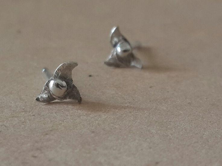 Super tiny ear studs - Mythika Handmade silver jewelry by Priya Jhavar