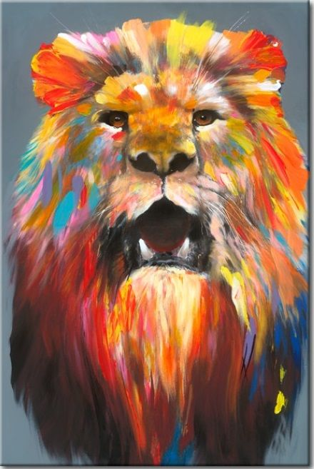There is only one king of home decor :) Colourful painting is waiting to make your interior roar!