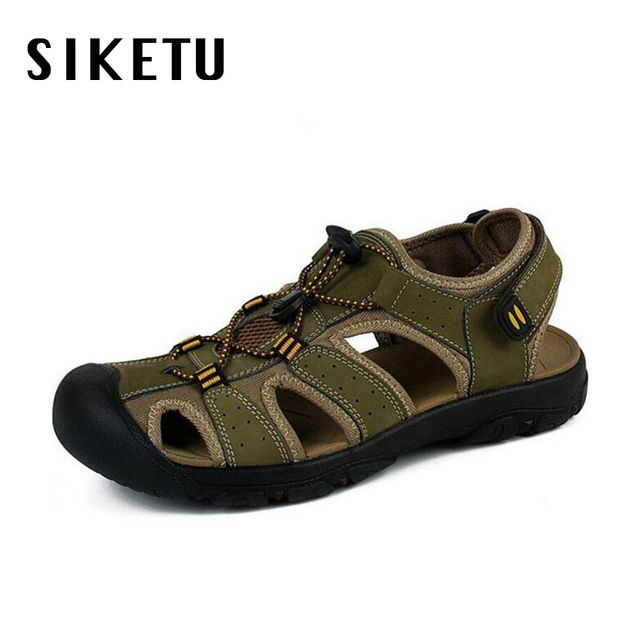 Special price 2017 summer new leather male sandals large size 46 47 outdoor men's sandal walking casual shoe soft sandalias masculinas  just only $30.27 with free shipping worldwide  #menshoes Plese click on picture to see our special price for you