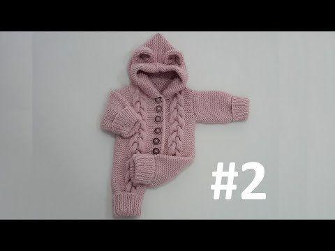 Kapüşonlu Bebek Tulumu #2 - Kapüşon ve Kol Yapımı (1-2 Yaş) - YouTube