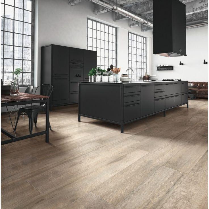 keramische vloertegel, imitatie parket hout, beige bruin, gerectificeerd, naturale, Serenissima Norway,